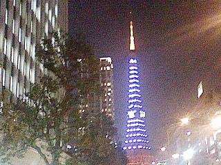 今週の東京タワー、開業50周年を記念したライトアップ「ダイヤモンドヴェール」