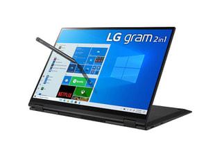 「16T90P-KA75J」LGのgramシリーズWin10搭載16.0型回転式2in1、長時間駆動で厳しい環境でも使用可能