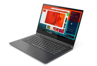 「Yoga C930」LenovoのWin10搭載の13.9型回転式2-in-1、サウンドバー機能付きヒンジ採用