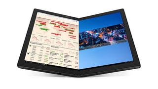 「ThinkPad X1 Fold」LenovoのWin10搭載13.3型有機EL搭載PC、画面中央が谷折りの折りたたみ式